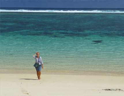 Samoa so ein schoener Strand ganz fuer mich allein
