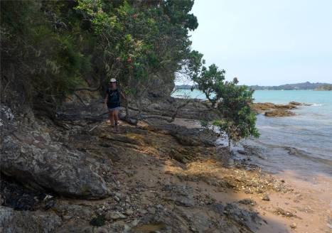 NZ der Weg vom Einkaufen nach Opua