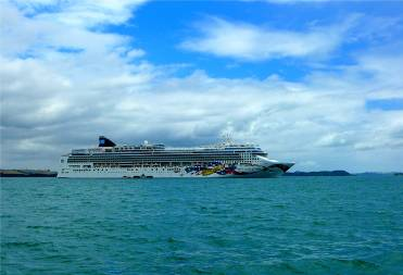 NZ in der Bay of Islands grosses Boot