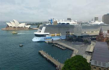 Sydney die kleine Oper und der riesen Kreuzfahrer