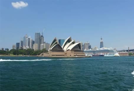 Sydney die oper vom Wasser aus