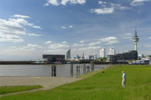 Bremerhaven bei strahlendem Wetter