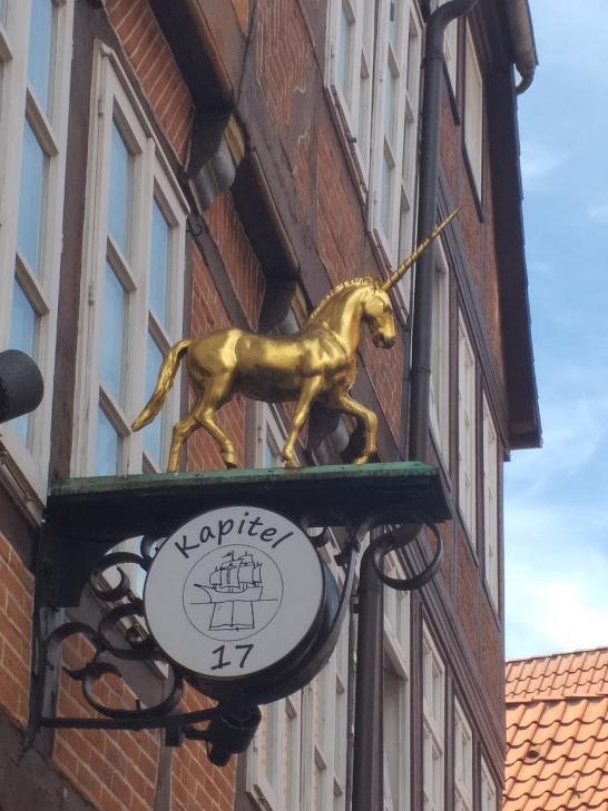 Lueneburg hier gibt es ein Einhorn