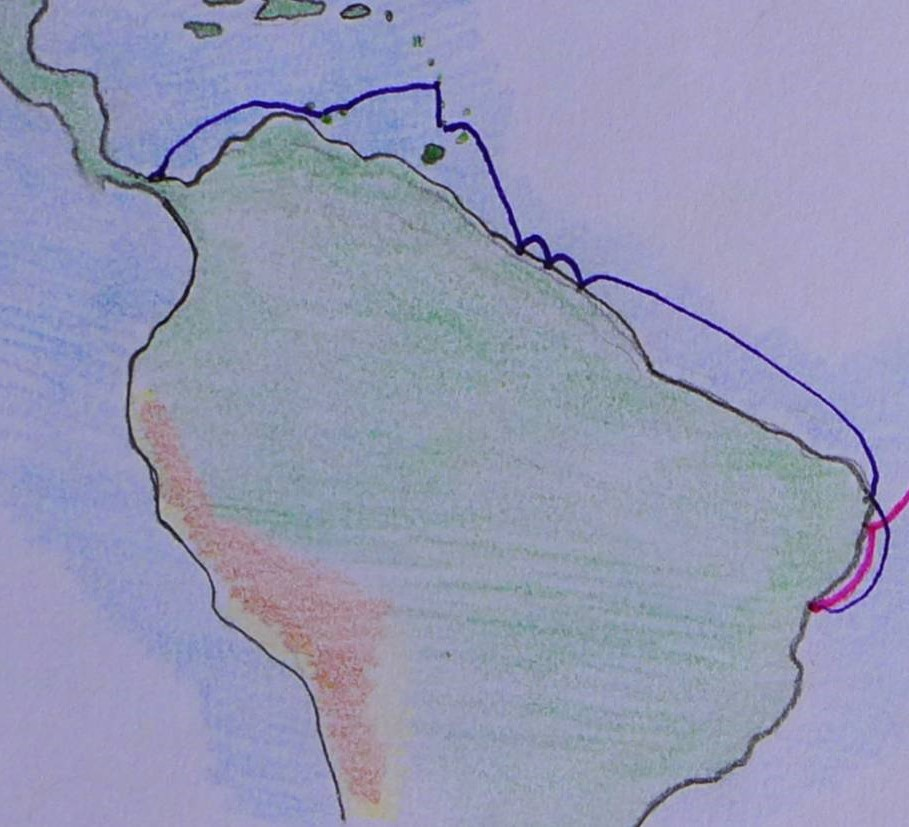 1 Karte Salvador bis Panama