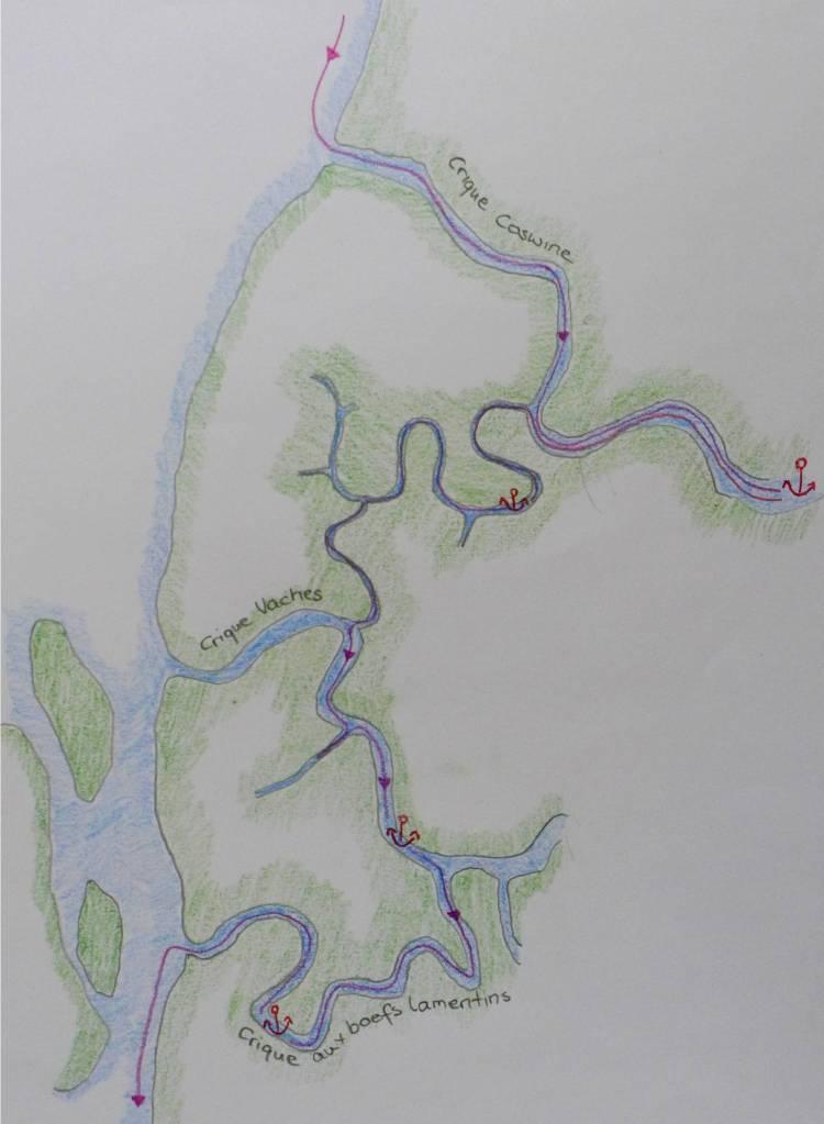 11 Karte Criques am Maroni River