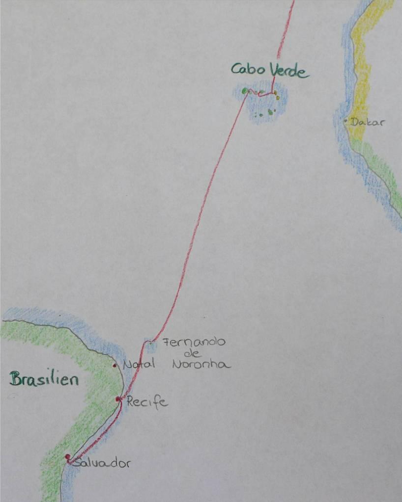 14 Karte Kap Verden bis Salvador