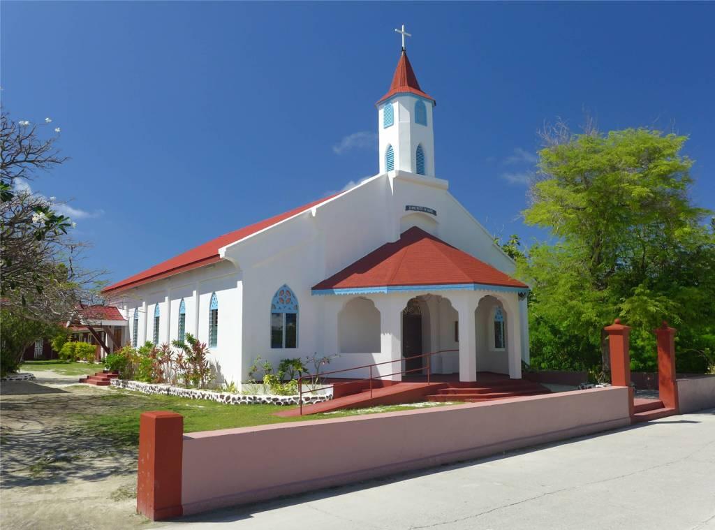 19 Kirche in Rotoava dem Ort auf Fakarava