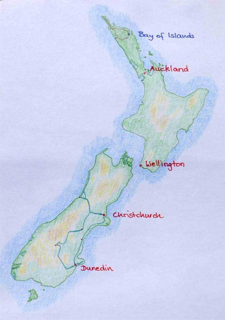 33 Karte Neuseeland